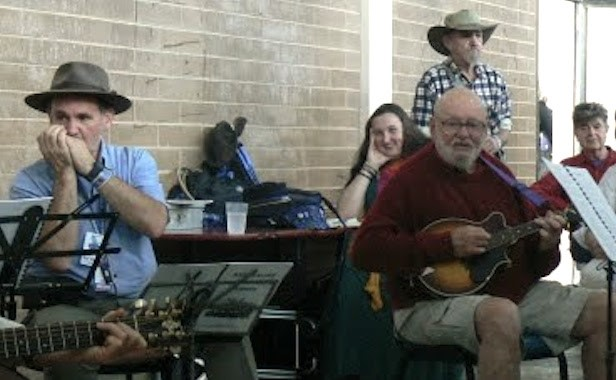 Brain Dunnett on Mandolin – BushMusic Club Rehearsal at National Folk Festival.